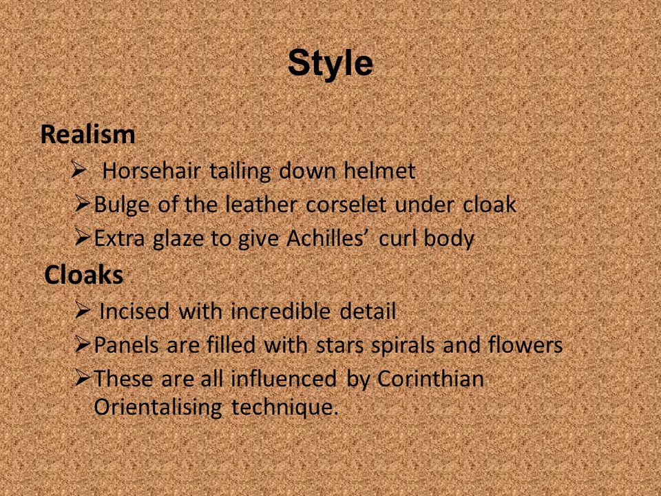 Style Realism Cloaks Horsehair tailing down helmet