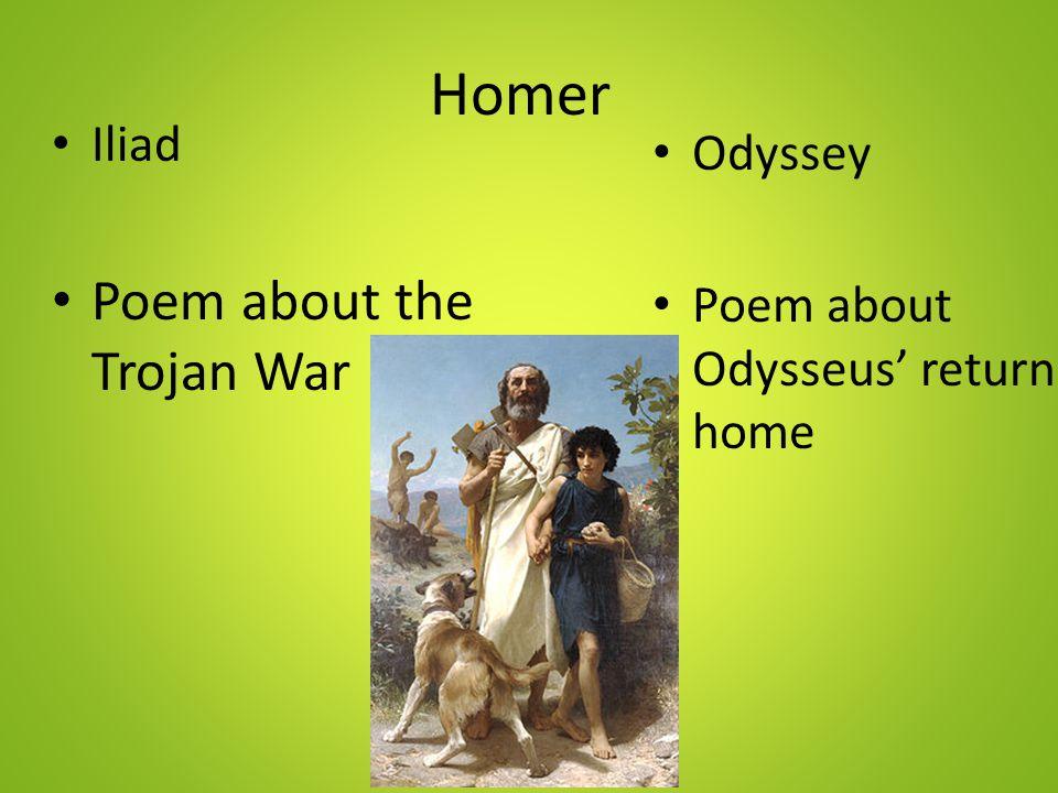 Homer Poem about the Trojan War Iliad Odyssey