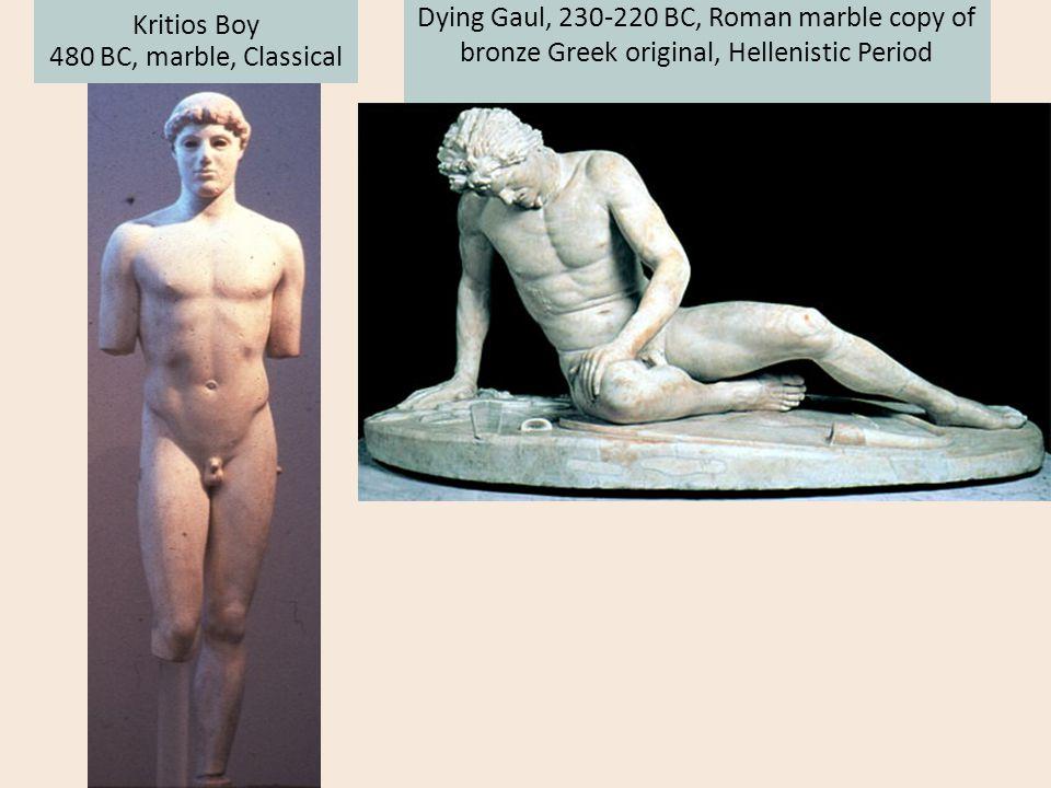 Kritios Boy 480 BC, marble, Classical