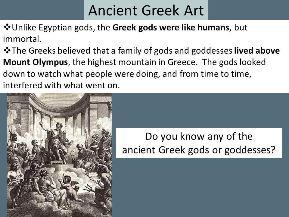 ancient Greek gods or goddesses