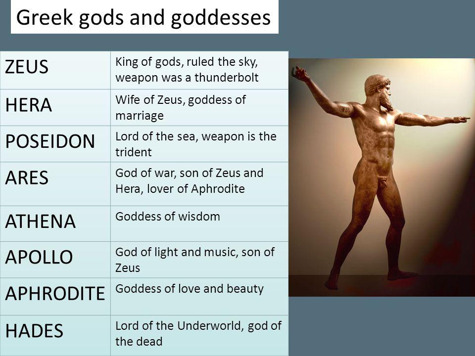 Greek gods and goddesses