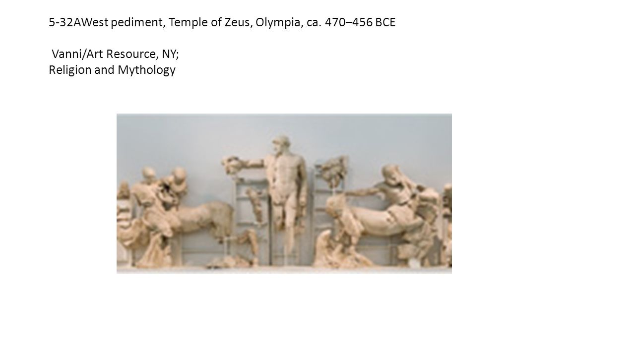 5-32AWest pediment, Temple of Zeus, Olympia, ca