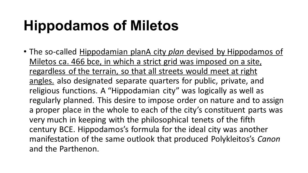 Hippodamos of Miletos