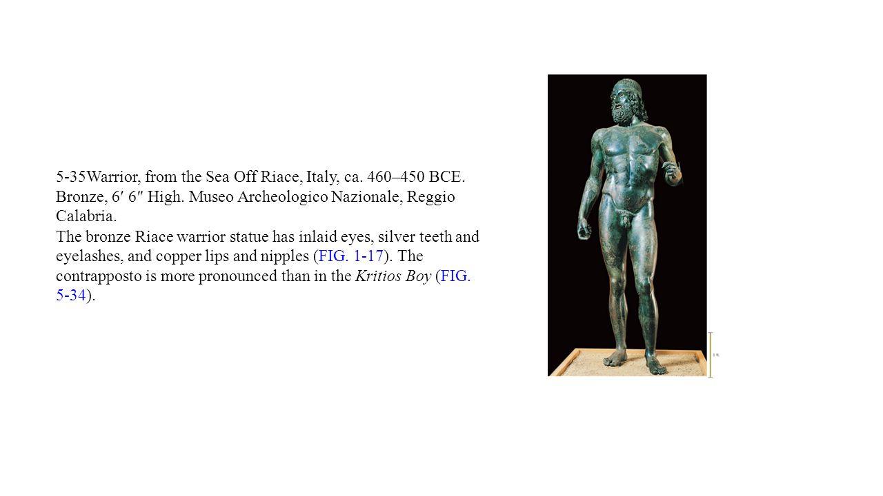 5-35Warrior, from the Sea Off Riace, Italy, ca. 460–450 BCE