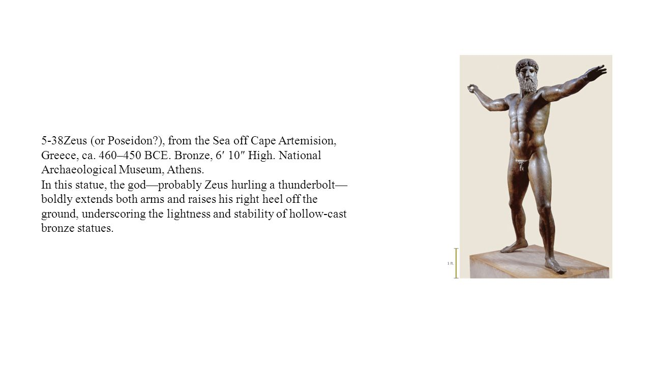 5-38Zeus (or Poseidon. ), from the Sea off Cape Artemision, Greece, ca