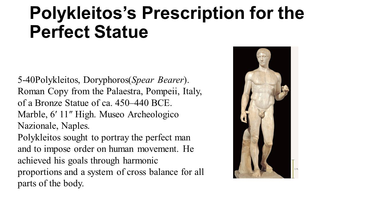 Polykleitos's Prescription for the Perfect Statue