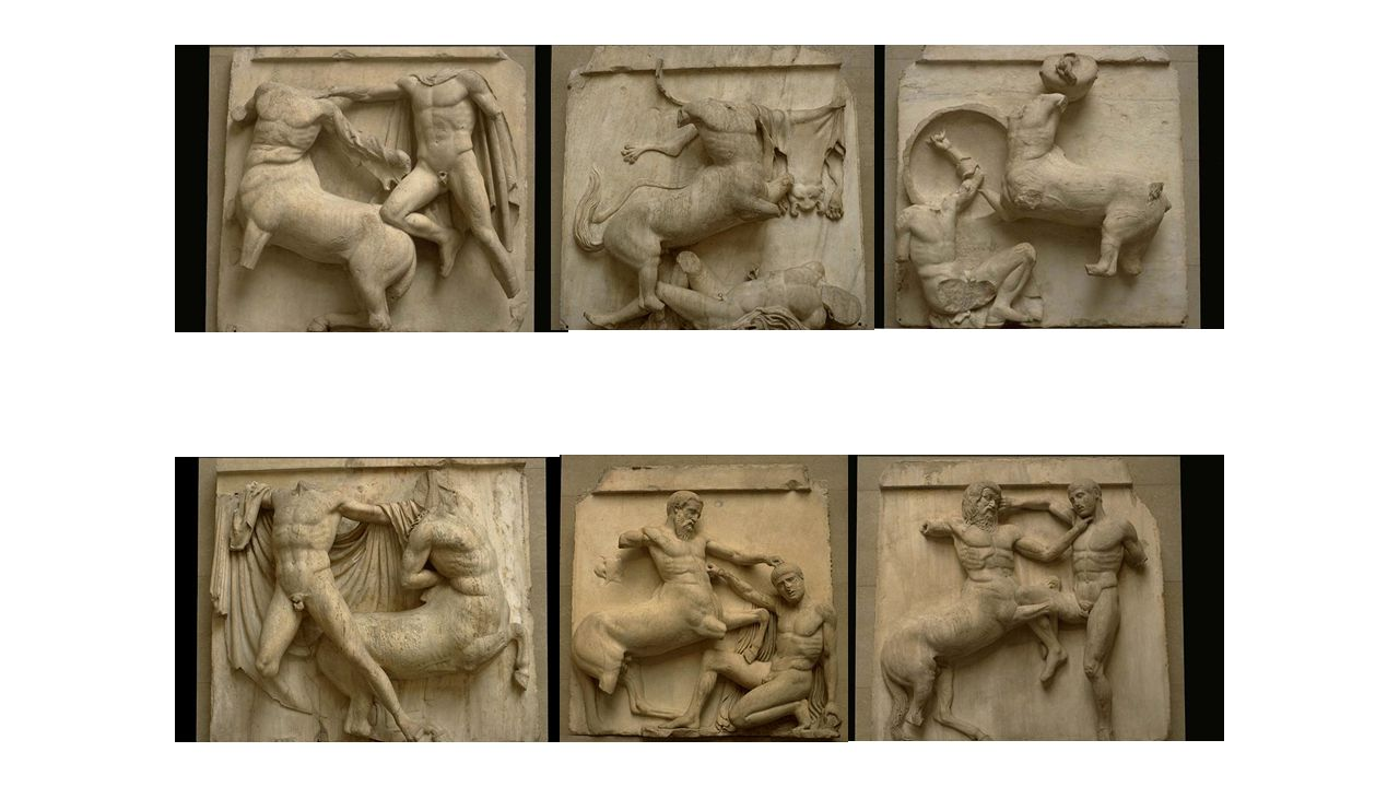 Various metopes from Parthenon