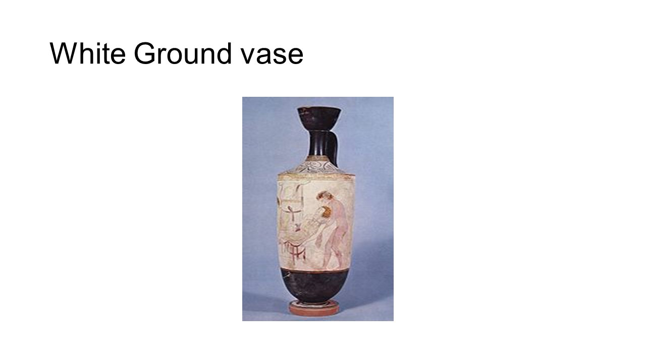 White Ground vase