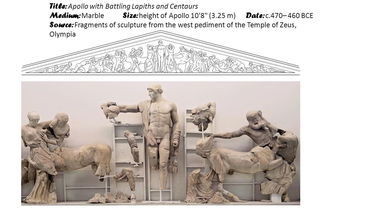 Title: Apollo with Battling Lapiths and Centaurs