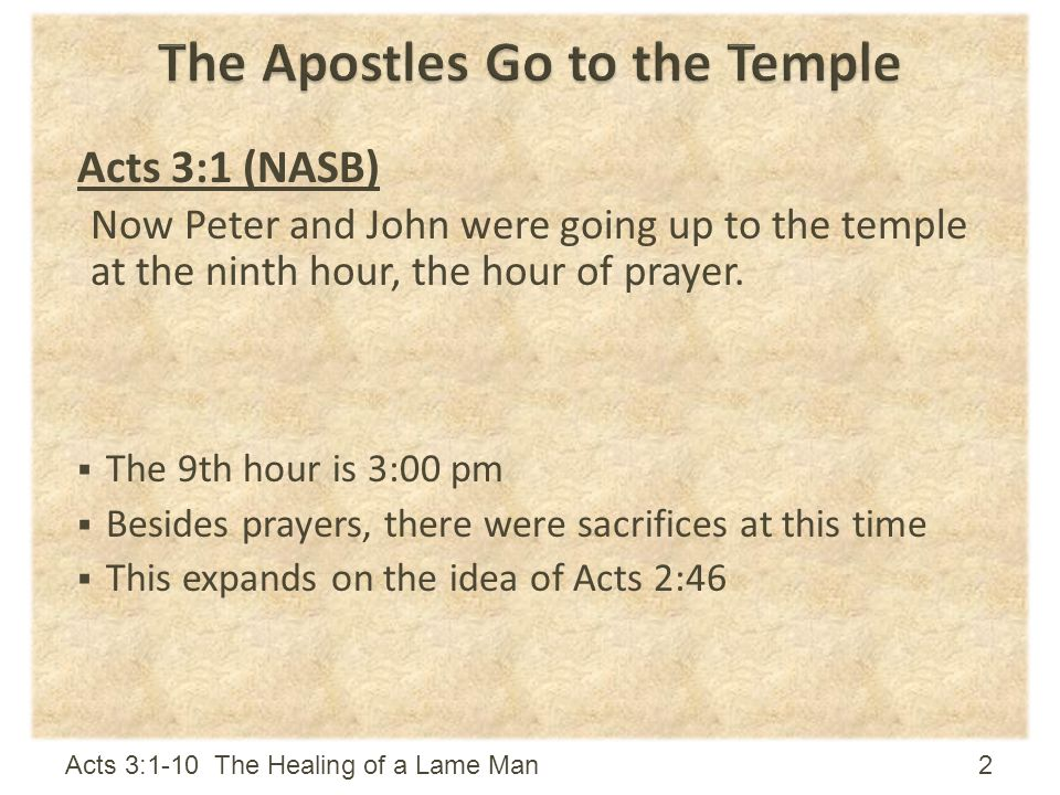 The Apostles Go to the Temple