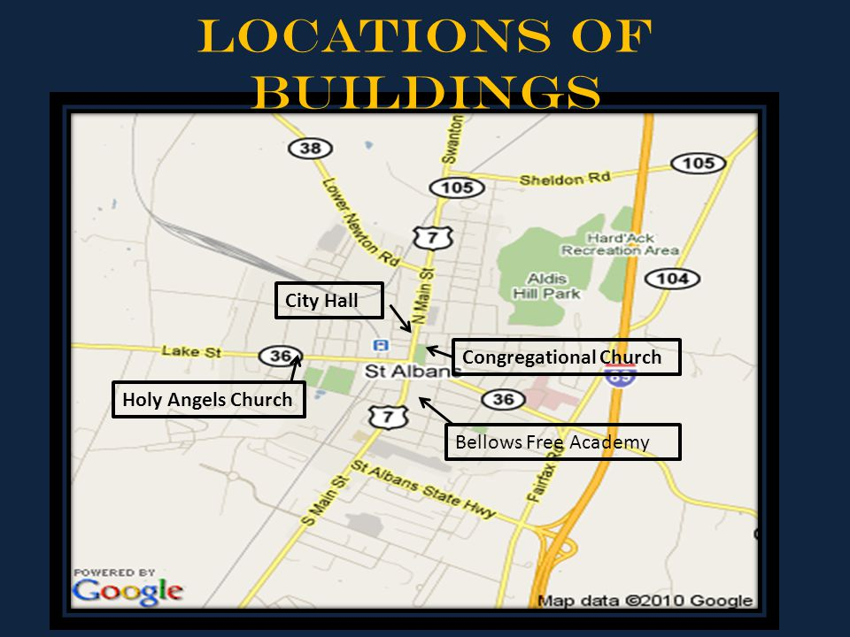 Locations of Buildings