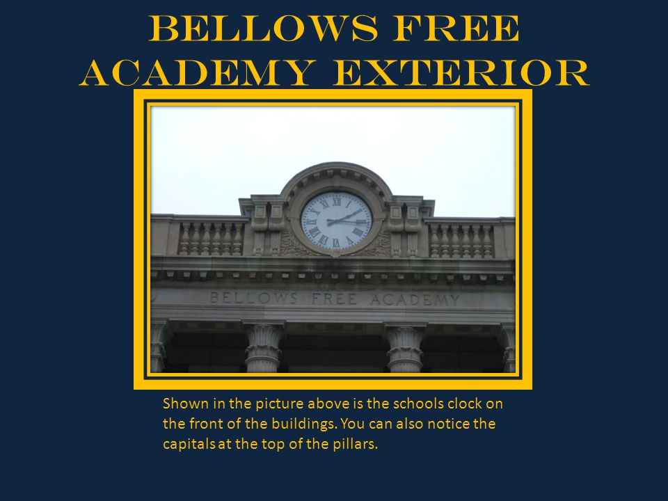 Bellows Free Academy Exterior