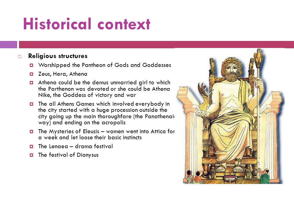 Historical context Religious structures