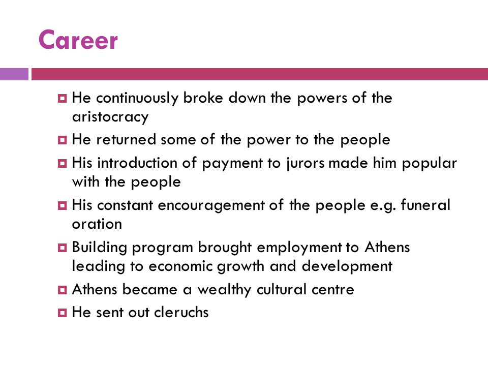 Career He continuously broke down the powers of the aristocracy
