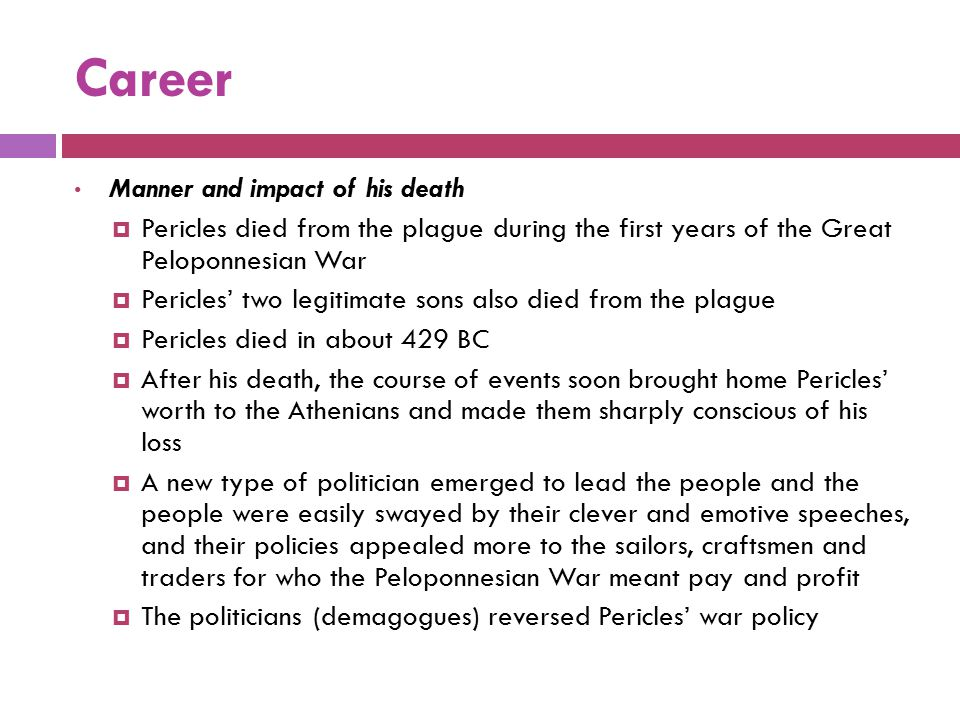 Career Manner and impact of his death