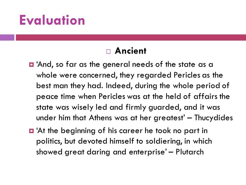 Evaluation Ancient.