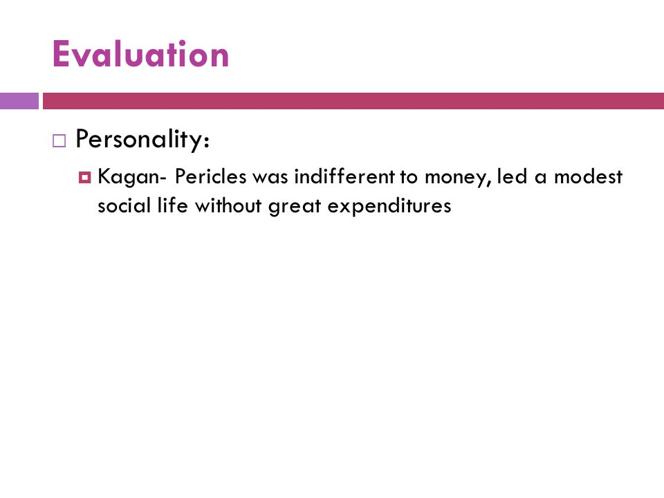 Evaluation Personality: