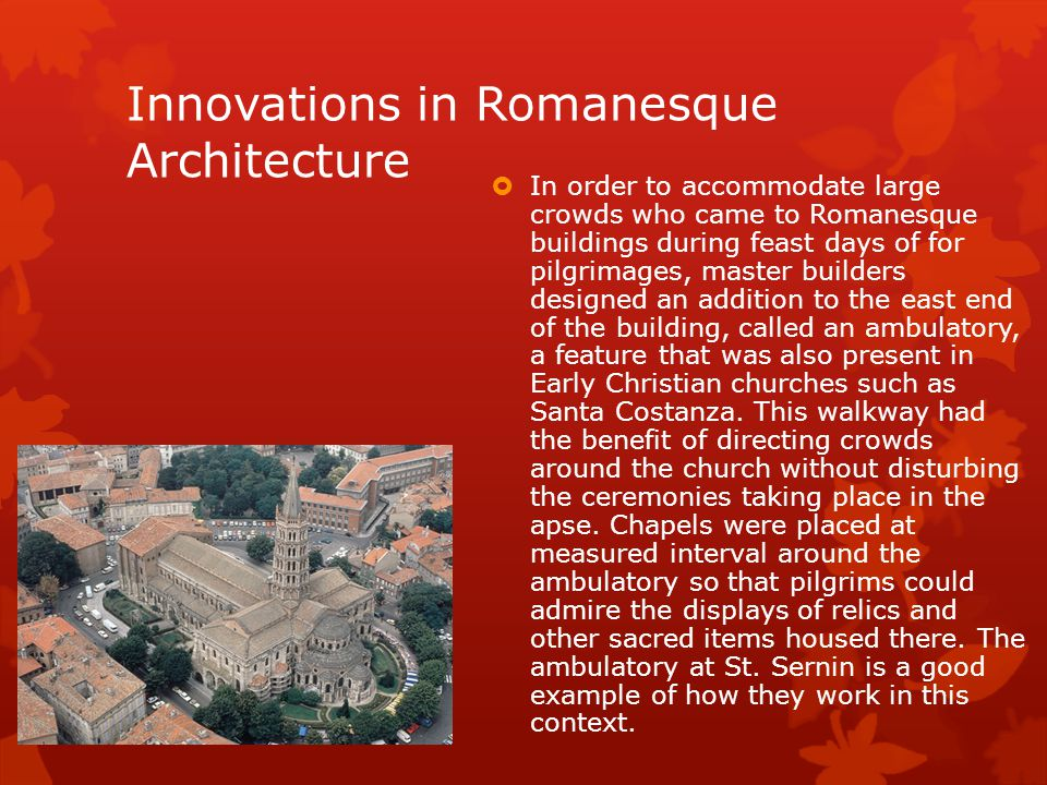 Innovations in Romanesque Architecture