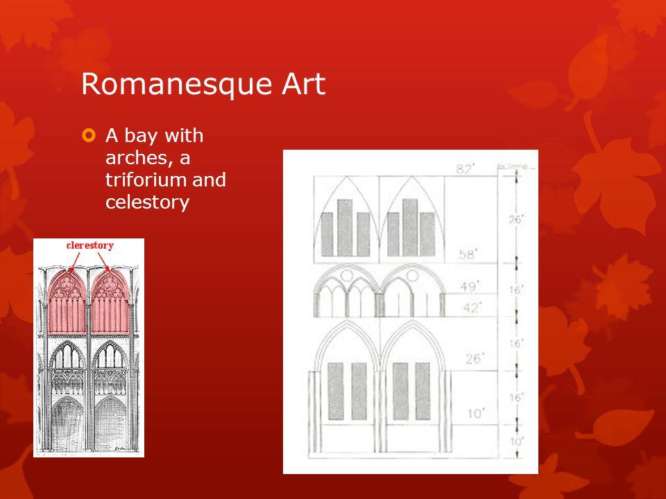 Romanesque Art A bay with arches, a triforium and celestory