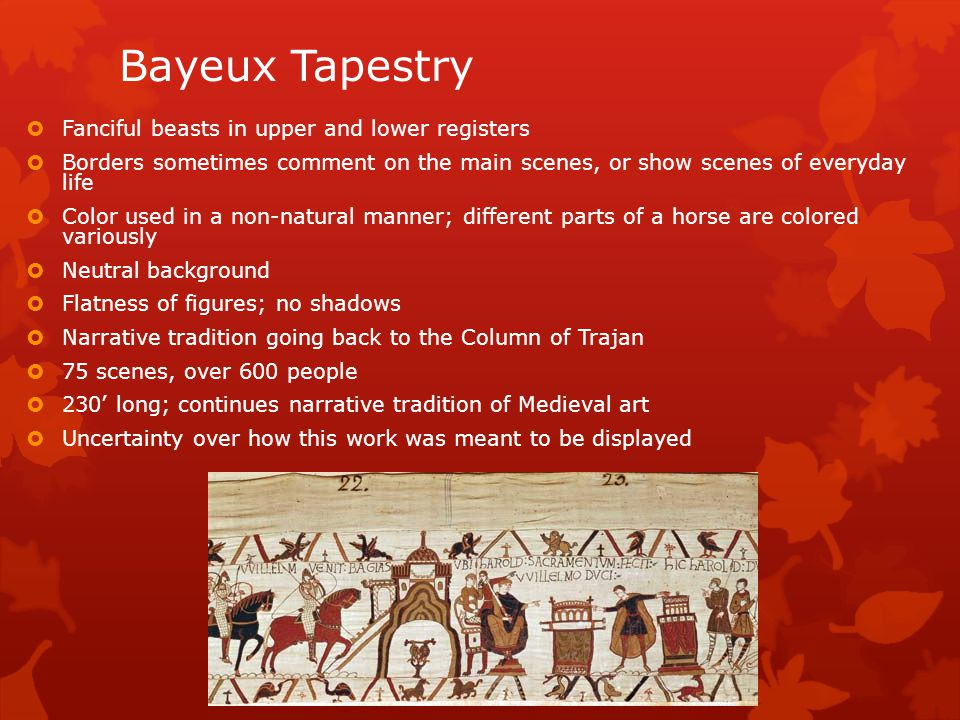 Bayeux Tapestry Fanciful beasts in upper and lower registers