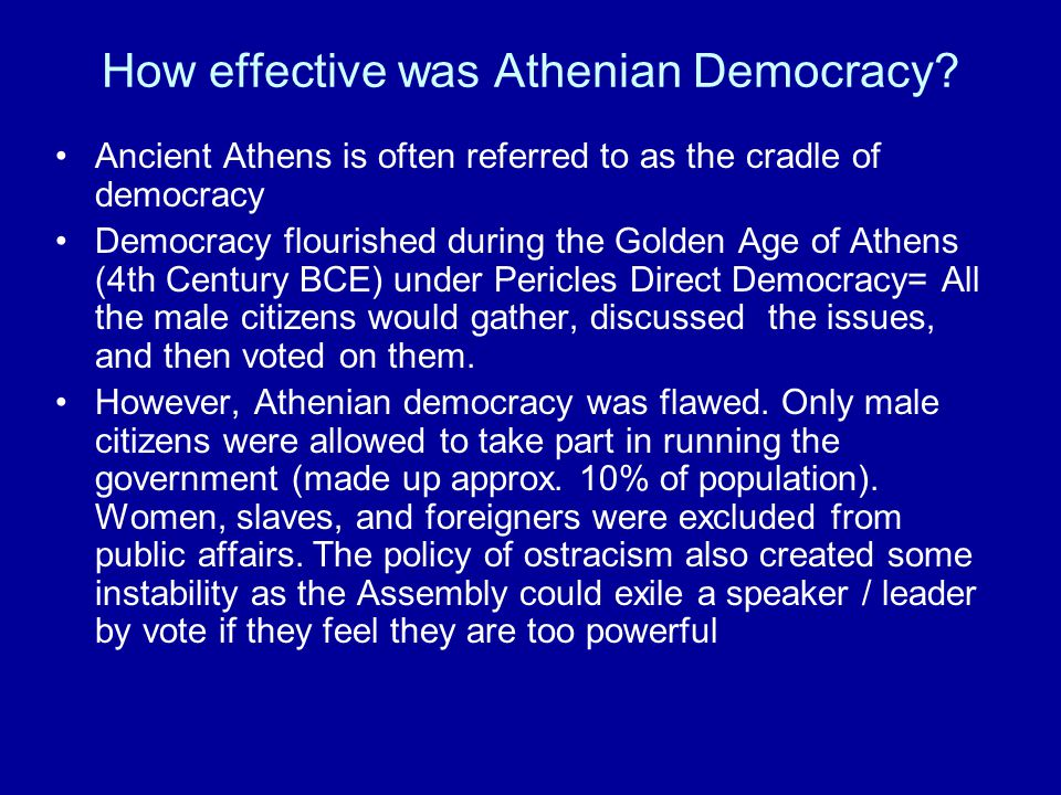 How effective was Athenian Democracy