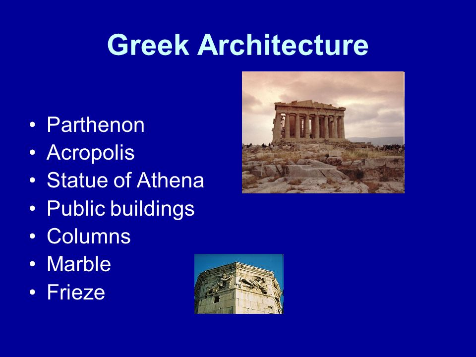 Greek Architecture Parthenon Acropolis Statue of Athena