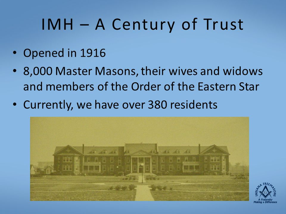 IMH – A Century of Trust Opened in 1916