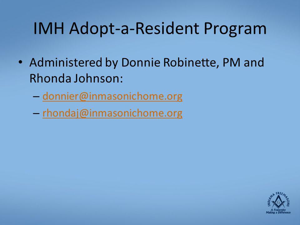 IMH Adopt-a-Resident Program
