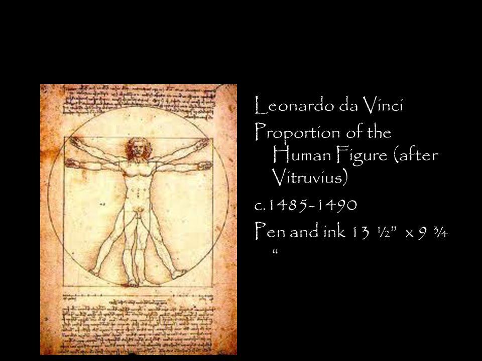 Leonardo da Vinci Proportion of the Human Figure (after Vitruvius) c