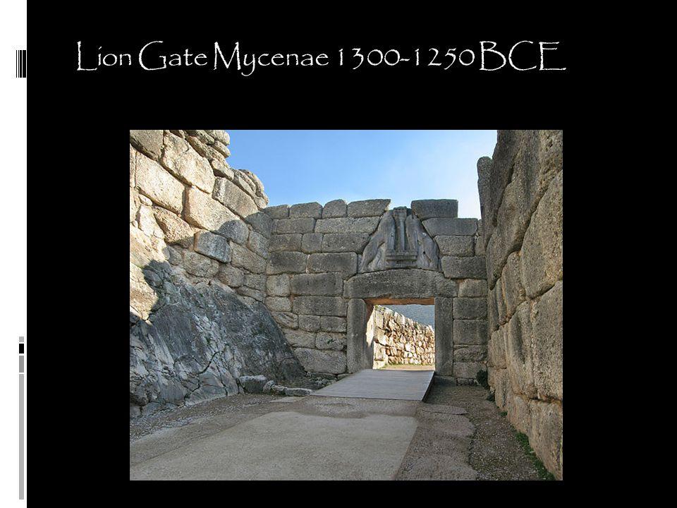 Lion Gate Mycenae 1300-1250 BCE