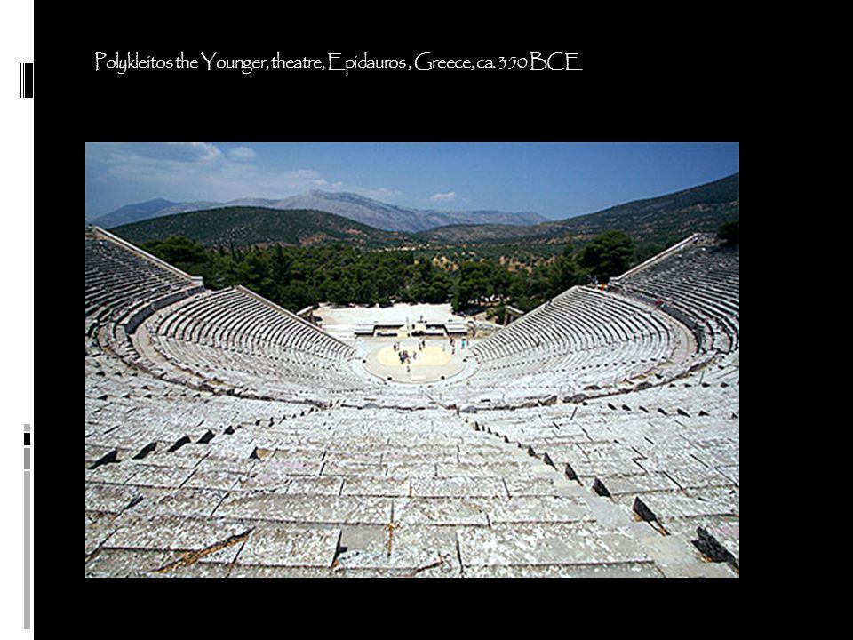 Polykleitos the Younger, theatre, Epidauros , Greece, ca. 350 BCE