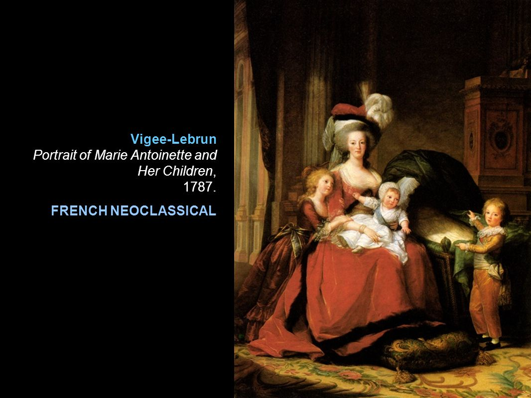 Vigee-Lebrun Portrait of Marie Antoinette and Her Children, 1787.