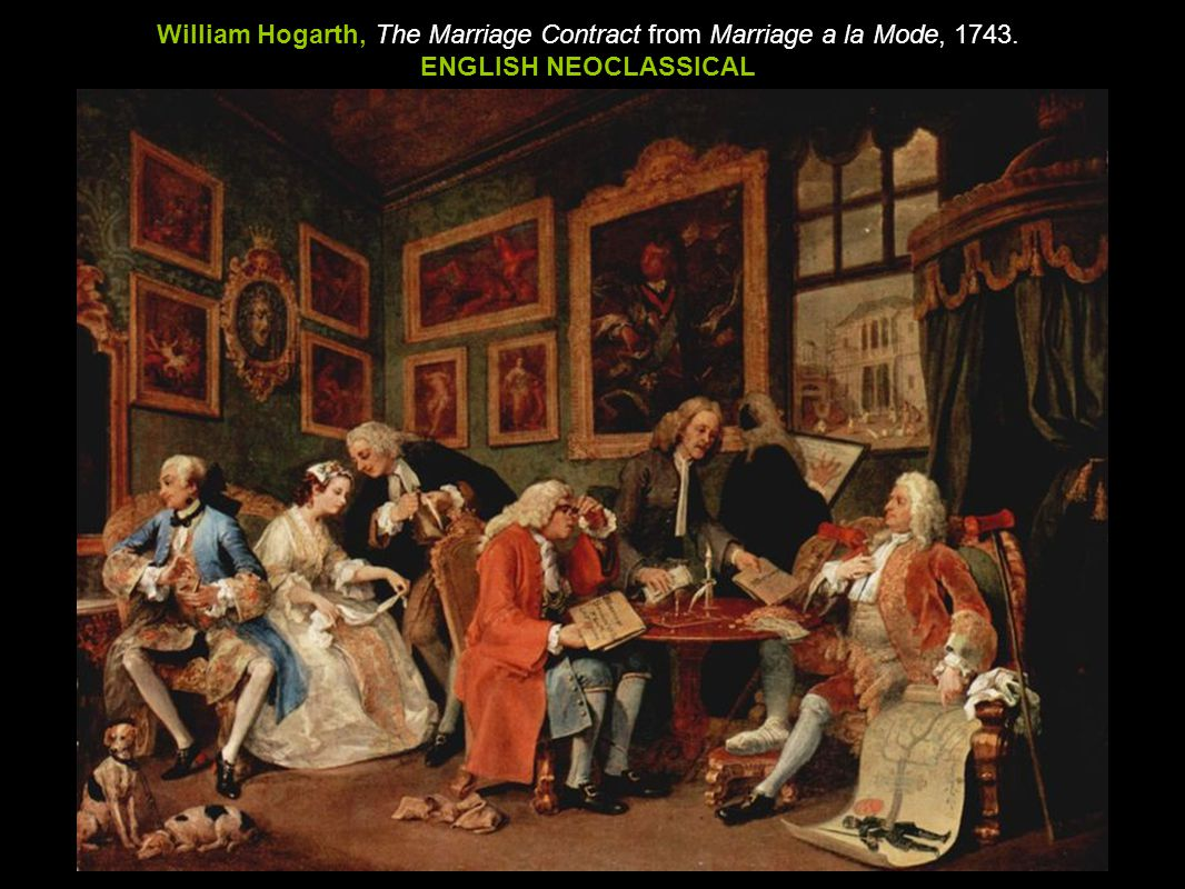 William Hogarth, The Marriage Contract from Marriage a la Mode, 1743.