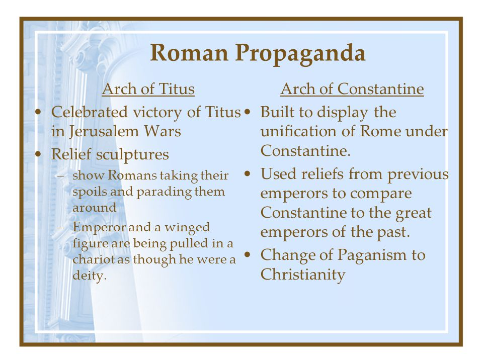 Roman Propaganda Arch of Titus