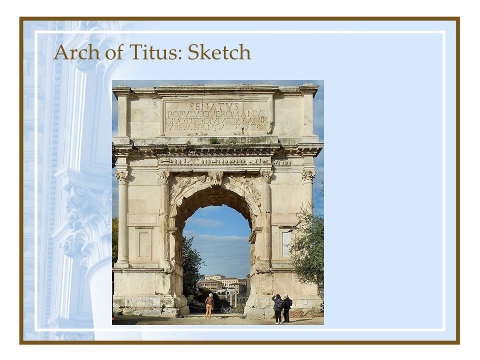 Arch of Titus: Sketch