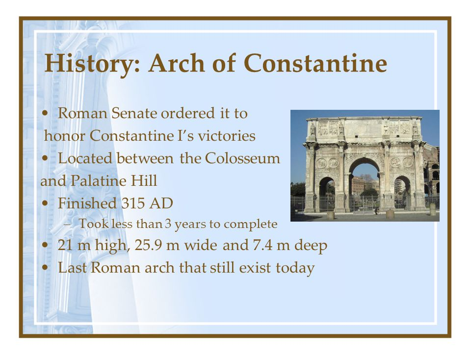 History: Arch of Constantine
