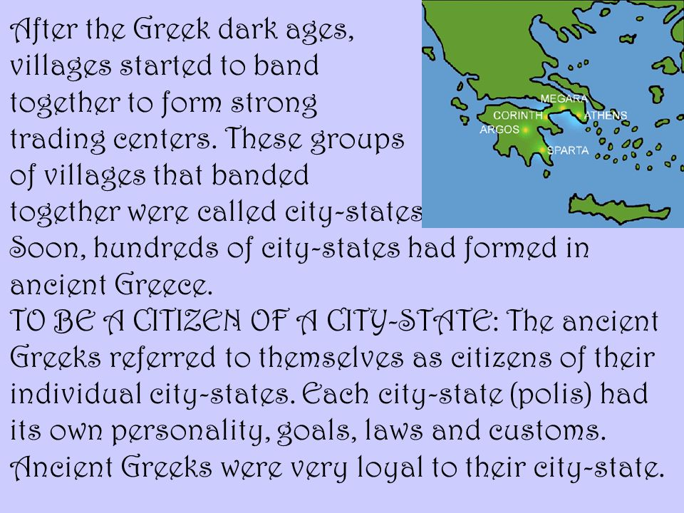 After the Greek dark ages,