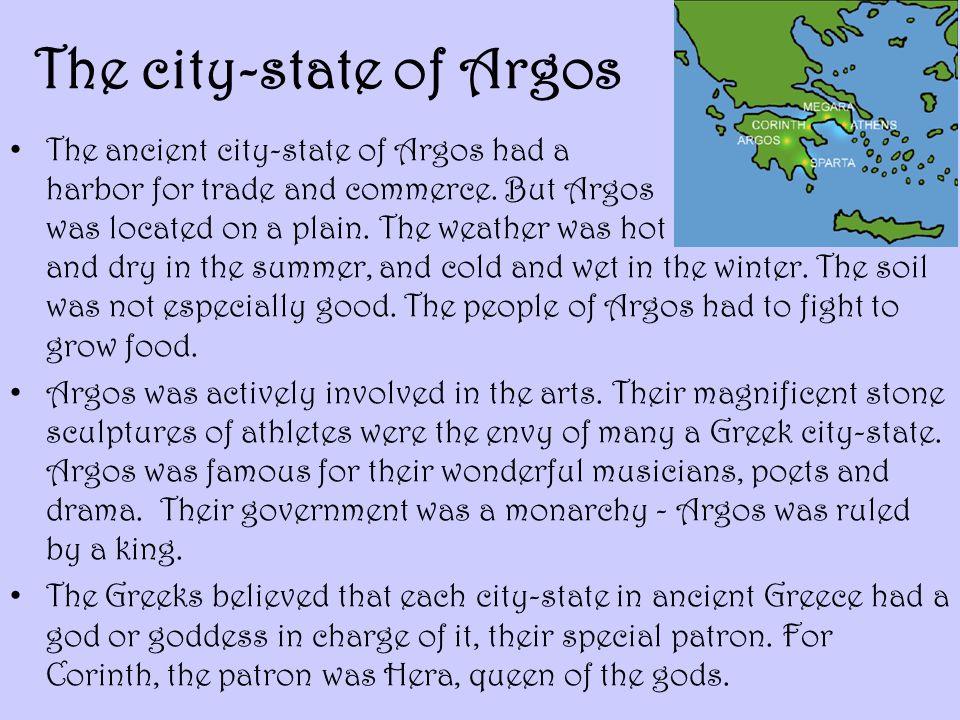 The city-state of Argos