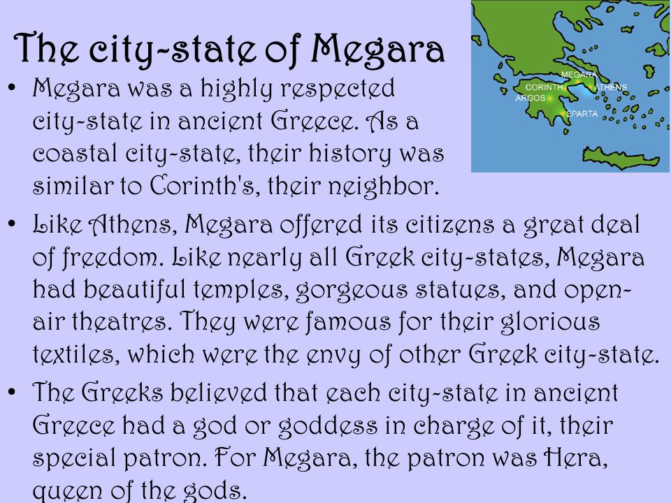 The city-state of Megara