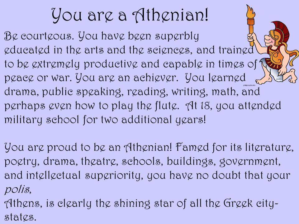 You are a Athenian!