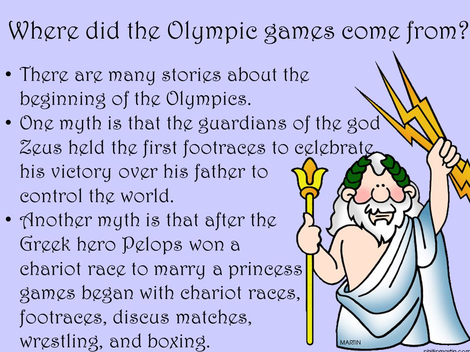 Where did the Olympic games come from