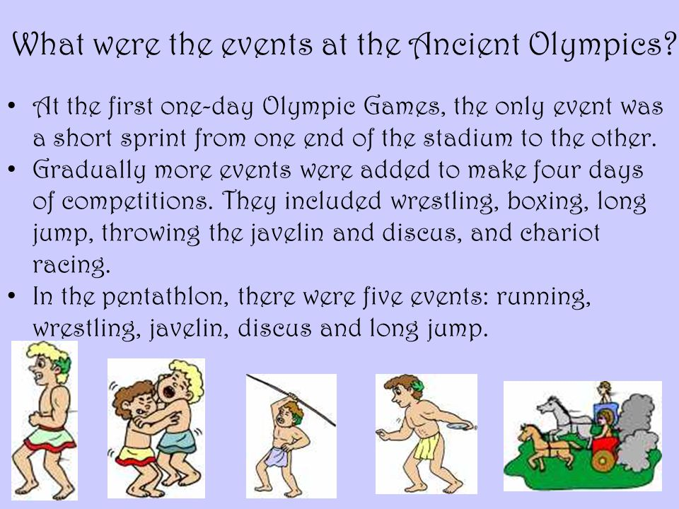 What were the events at the Ancient Olympics