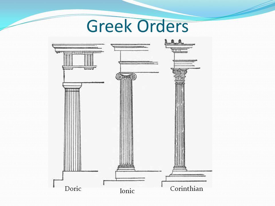 Greek Orders Doric Corinthian Ionic