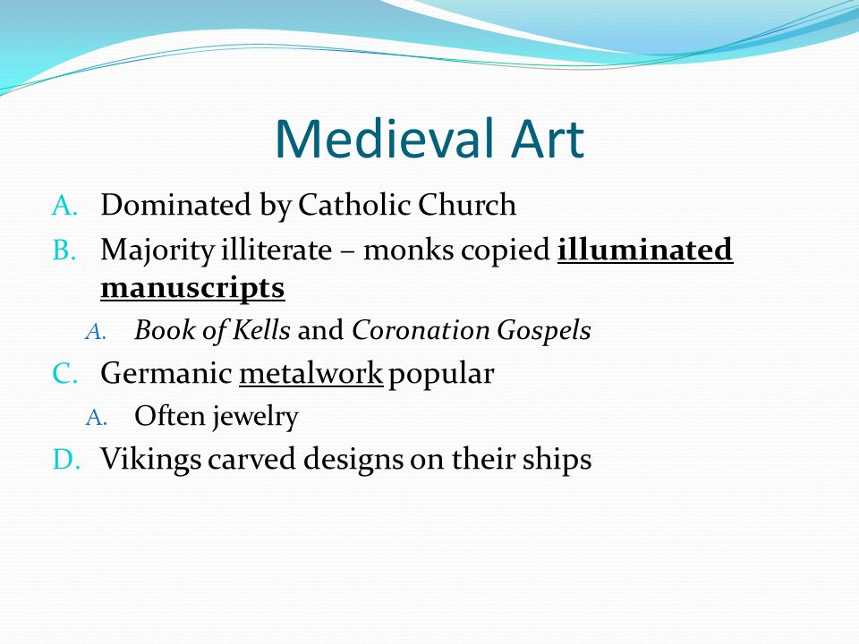 Medieval Art Dominated by Catholic Church