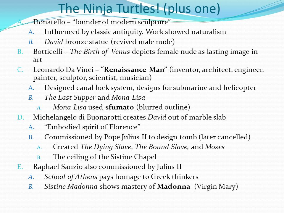 The Ninja Turtles! (plus one)