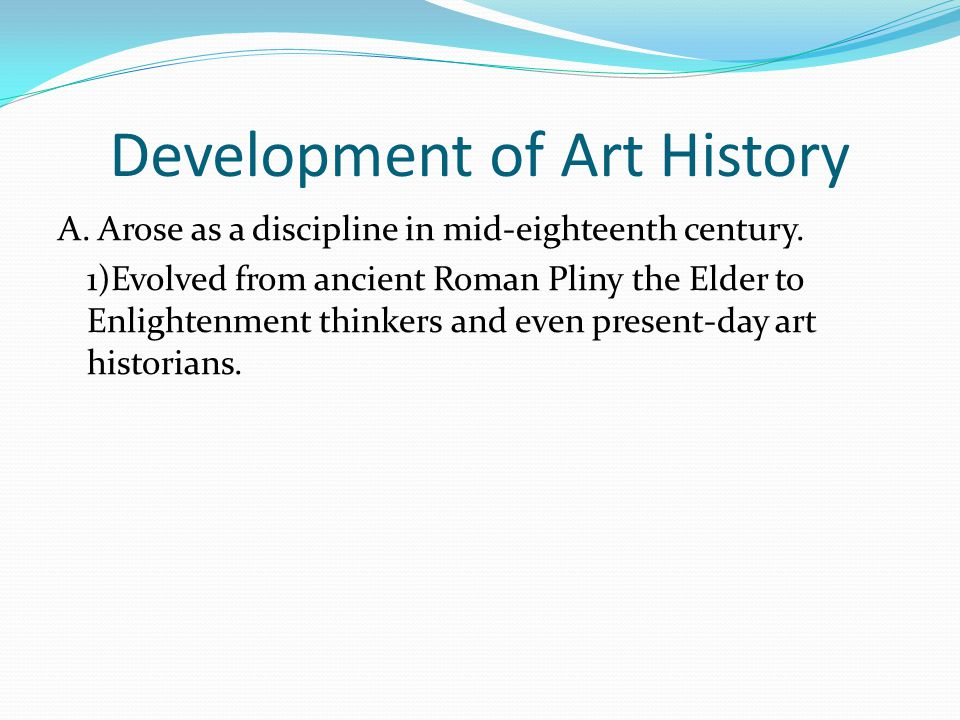 Development of Art History