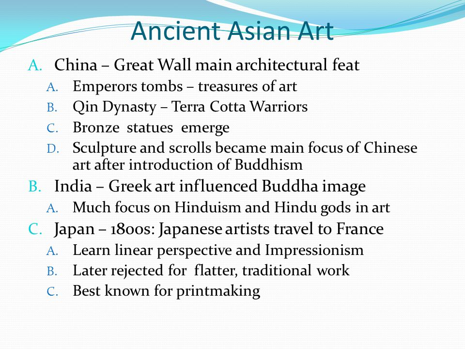 Ancient Asian Art China – Great Wall main architectural feat