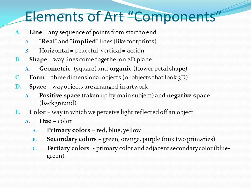 Elements of Art Components