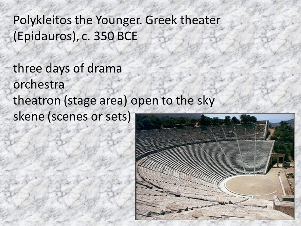 Polykleitos the Younger. Greek theater