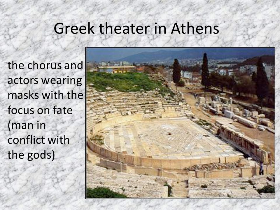 Greek theater in Athens